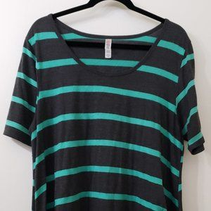 LuLaRoe Striped Perfect T